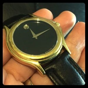 Authentic Black/Gold Movado Watch